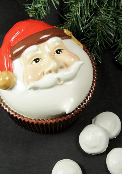 Keramikdose Weihnachtsmann
