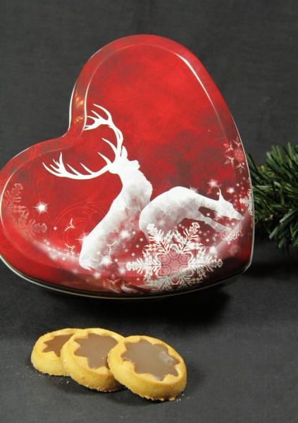 Keksdose Herz mit Elch